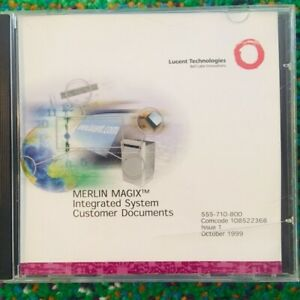 Lucent Merlin Magix Integrated System Release 1 0 Cd 108522368 Customer Docume