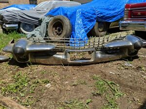1958 Cadillac Front Bumper Complete Assembly Plus Brackets