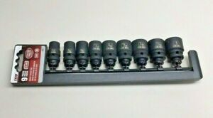 Teq Correct 102 Impact Socket Set 1 2 Drive Cr mo 9 pieces From 1 2 To 1