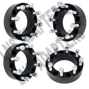 4x 2 Chevy Gmc Hubcentric 8x180 Wheel Spacers 8 Lug Silverado 2500 3500 Black