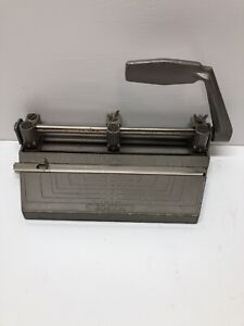 Vintage Boston 2 Or 3 Hole Punch Adjustable Heavy duty Metal
