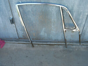 Porsche 911 912 Chrome Rtght Door Frame W Hip