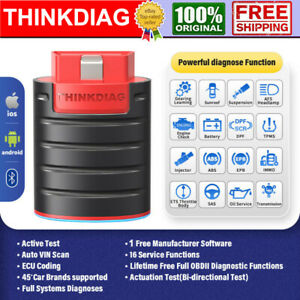Thinkdiag Bluetooth Car Obd2 Scanner Bi directional Full System Diagnostic Tool