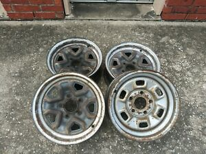 Chevrolet El Camino Rally Wheels 6 Slot 14x6 Oem Wheels Set