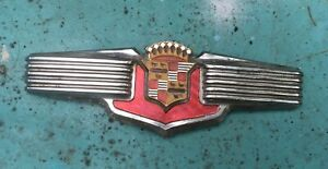 1941 Cadillac Original Trunk Emblem Crest Badge Oem Almost Show Quality