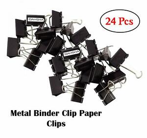Binder Clips 1 4 inch 32mm Paper Holding Capacity Files Organized 24 Pcs