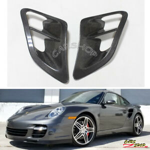 Real Carbon Fiber Side Fender Air Vent Intake Cover For Porsche 911 997 07 10