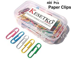 Paper Clips U Clips Gem Clips 30mm 400 Clips Multicolored In Two Box