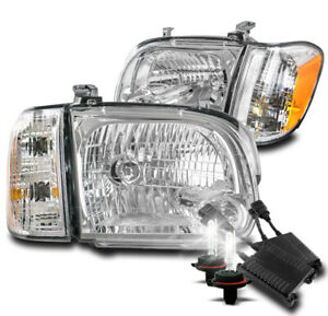 For 2005 2006 Toyota Tundra Double Cab sequoia Chrome Headlights W 50w 8000k Hid