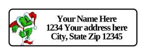 400 Grinch Personalized Return Address Labels 1 2 Inch By 1 3 4 Inch