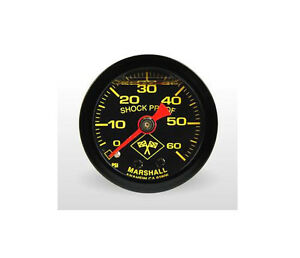 Marshall 0 60 Psi Fuel Oil Pressure Gauge Midnight Black 1 5 Liquid Filled
