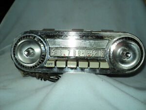Vintage Ford Fomoco Car Dash Radio With Face Plate Knobs Untested 40s 50s 60s