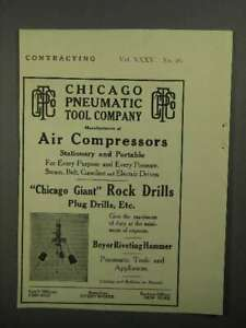 1911 Chicago Pneumatic Tool Company Rock Drills Ad