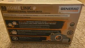 Generac 9855 50 amp Homelink Upgradeable Manual Transfer Switch free Ship