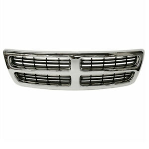 98 03 Ram Van Full Size Front Grill Grille Assembly Chrome Ch1200230 55076540ad