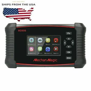Mechanmagic Md698 Obd2 Car Code Reader Diagnostic Scan Tool Long Coding Scanner
