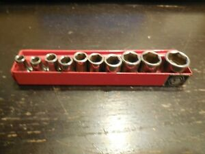 Matco Tools 1 4 Drive 10 Piece Sae 6 Point Socket Set 3 16 9 16 With Rack