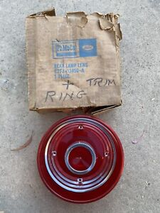Nos 1962 Ford Thunderbird Tail Brake Lamp Light Lamp Light Lens Not Reproduction