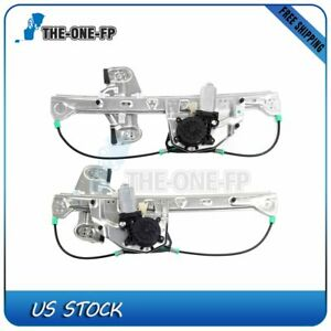 New Window Regulator With Motor For 2000 2005 Cadillac Deville Rear Rh Lh