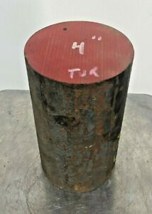 1045 Hot Rolled Steel Round bar rod 4 Diameter X 7 1 8 In Long