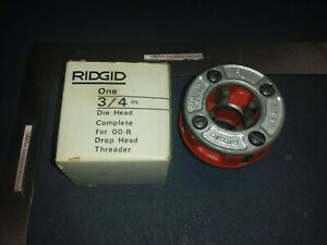 Ridgid 3 4 Inch Die Head Complete For Drop Head Threader Oo r Original Box