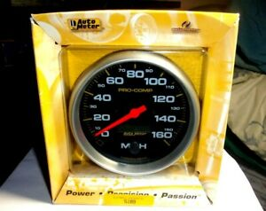 Autometer 5189 Pro Comp 5 Programmable Speedometer Gauge 0 160mph