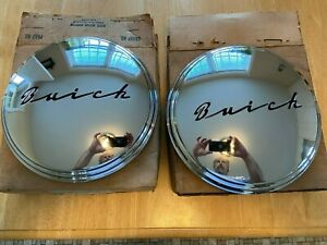2 Nos Vintage 1940 s 1950 s Buick Dog Dish Poverty Hubcaps New Mint 1342997 Usa