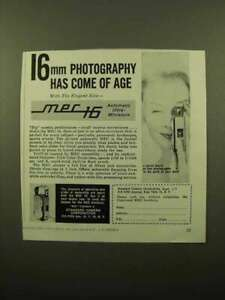 1959 Mec 16 Camera Ad Photography Has Come of Age $16.99