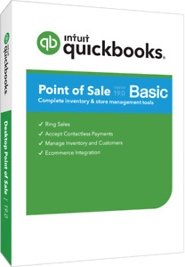 Quickbooks Point Of Sale 19 0 Basic With New Payments Account And Free Pin Pad