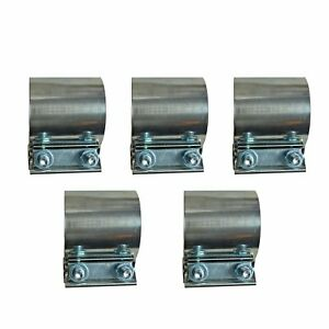 5x 2 Stainless Lap Joint Exhaust Band Clamp Clamps For Catback Muffler