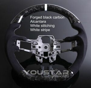 Forged Carbon Steering Wheel Alcantara White Edition For Ford Mustang 18 20
