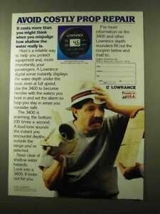 1987 Lowrance 3400 Digital Depth Sounder Ad - Avoid