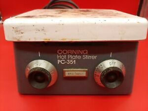 Corning Pc 351 Hot Plate Magnetic Stirrer 5 X 7 120v Stirring Analog