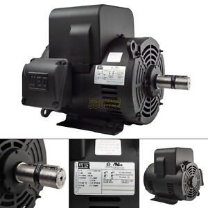7 5 Hp Single Phase Electric Compressor Motor 213t 3520 Rpm Weg Replaces L1509t