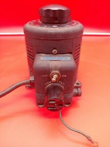 Vintage Superior Electric Powerstat 116 Variac Variable Autotransformer Working