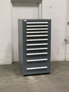 Used Stanley Vidmar 11 Drawer Cabinet Industrial Tool Storage Box 224