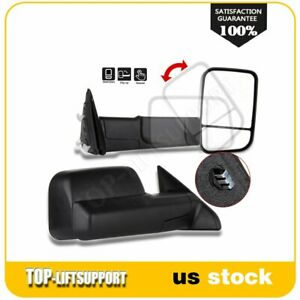 For 10 Dodge Ram 11 15 Ram 1500 2500 3500 Manual Pair Side View Towing Mirrors