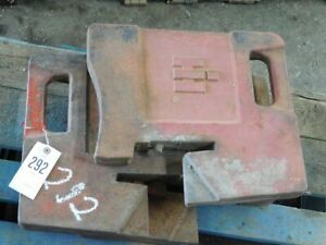 International Harvester Tractor 100 Lb Suitcase Weights Tag 292