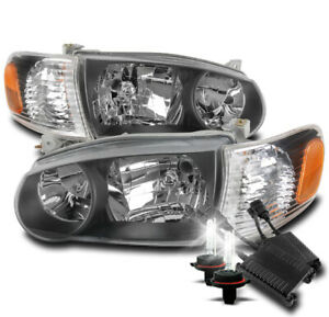 For 2001 2002 Toyota Corolla Black Replacement Headlight Lamp 50w 8000k Hid Set