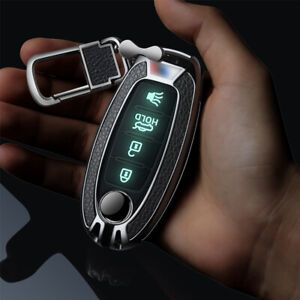 Metal leather Luminous Buttons Car Key Fob Case Cover For Nissan For Infiniti