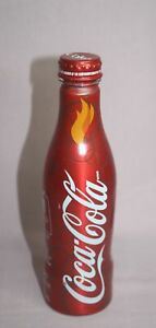 COLLECTIBLE  COCA-COLA ALUMINUM BOTTLE VANCOUVER OLYMPIC TORCH RELAY 2010 250 ML