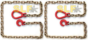 Qty 2 Of 6 Grade 70 5 16 Logging Choker Chains With Clevis Ring Hook New