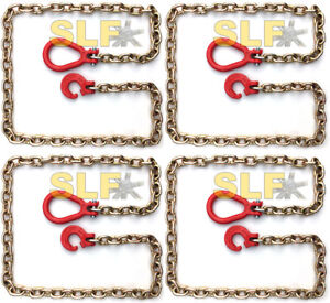 Qty 4 Of 6 Grade 70 5 16 Logging Choker Chains With Clevis Ring