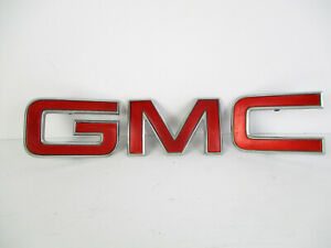 Gmc Jimmy Sonoma Canyon Front Grille Chrome Red Logo Letters Sign Badge Emblem
