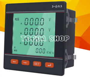 Three phase Multi function Power Meter Single phase Lcd Digital Display Current