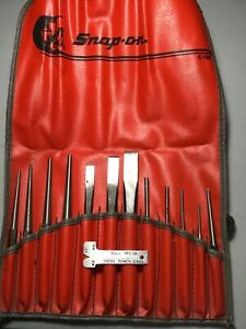 Snap On 14 Piece Starter Pin Center Punch Chisel Set Ppc1a Gage C 123 Bag