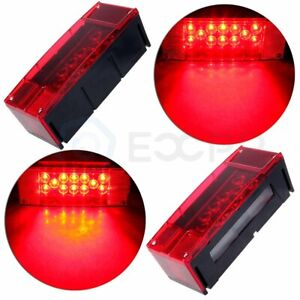 Red Stop Turn Tail Brake 18 Led Over 80 Trailer Truck Led Light Car 12v
