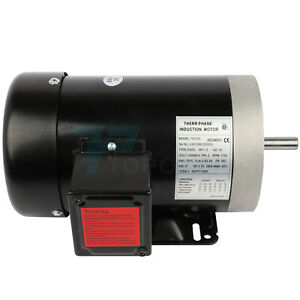 1 5hp Electric Motor For Air Compressor 3 Phase 1750rpm 60hz 230 460volt