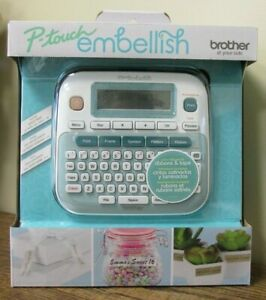 New Brother P touch Embellish Ribbon tape Label Printer Ptd215emikr 5696
