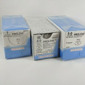 Lot Of 3x 12x3 Prolene Monofilament Sutures Polypropylene New Sealed